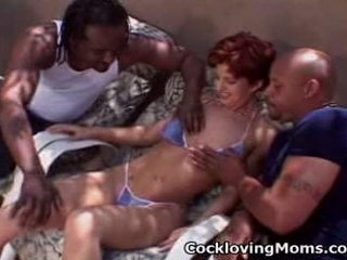 Naughty milf gets a wicked gang...