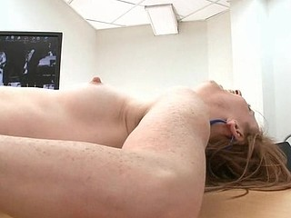 Nasty chick is shaking hunk's male rod hard and wild