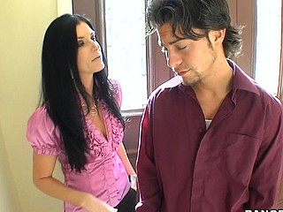 India Summer lives alone and has had a crush on the security guard that works in her apartment complex. That Babe gives a decision to lure him to the digs asking him if that guy could assist her with her security system. This of course was a bold face lie, but it did the trick. This Guy comes over and fiddles around with the key pad when all of a sudden this babe comes down stars wearing no thing but her pants. The guard can't aid him self be enticed by her and raunchy madness ensues. They fucked all over the living room and this babe pretty in a short time finds out that that guy likewise has had a crush on her for some time and even masturbated in the guard booth a pair times. This one is for the books. Have A Fun!